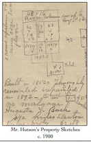 Hutson's Property Sketches, c. 1900